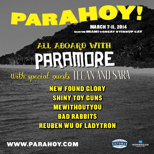 Paramore anuncia últimas atrações de festival em navio