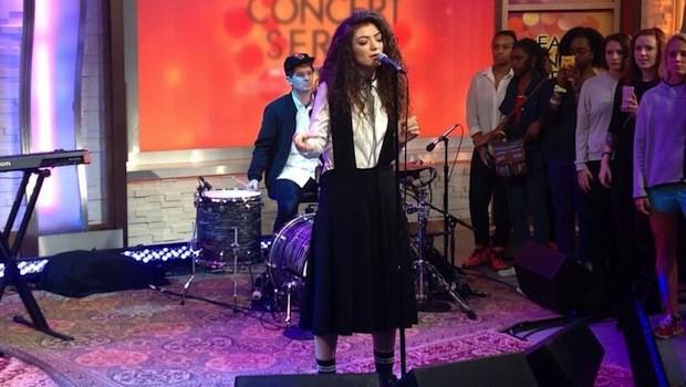 Na televisão: Lorde