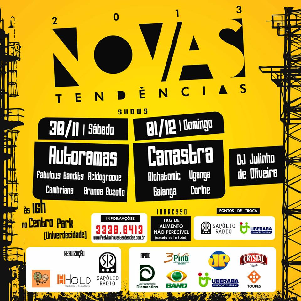 Festival Novas Tendências acontece neste final de semana em Uberaba