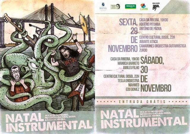 Primeira Edição do Festival Natal Instrumental terá shows gratuitos