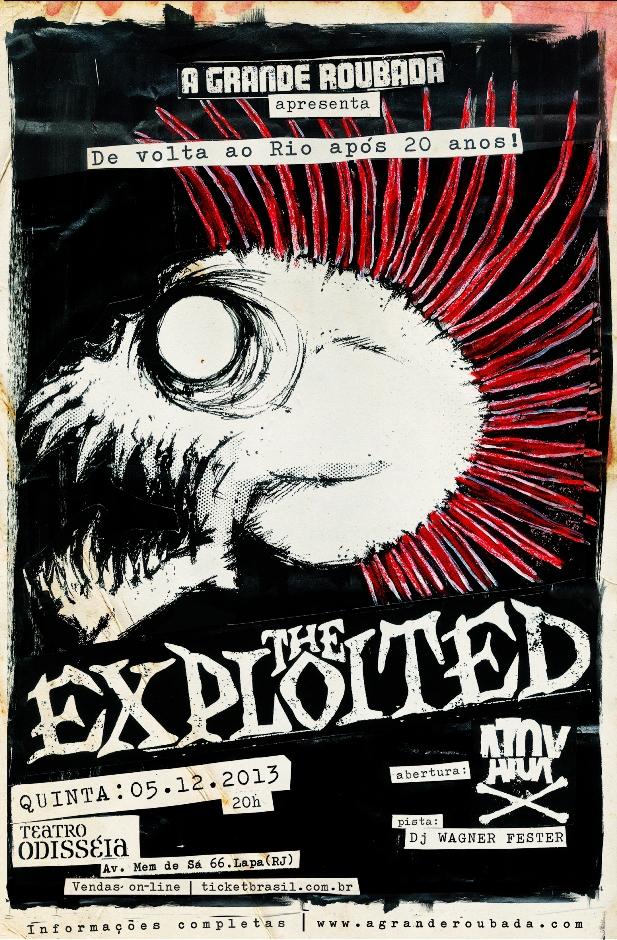 The Exploited faz show no Rio de Janeiro em Dezembro
