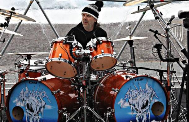 Lars Ulrich toca com o Metallica na Antártida