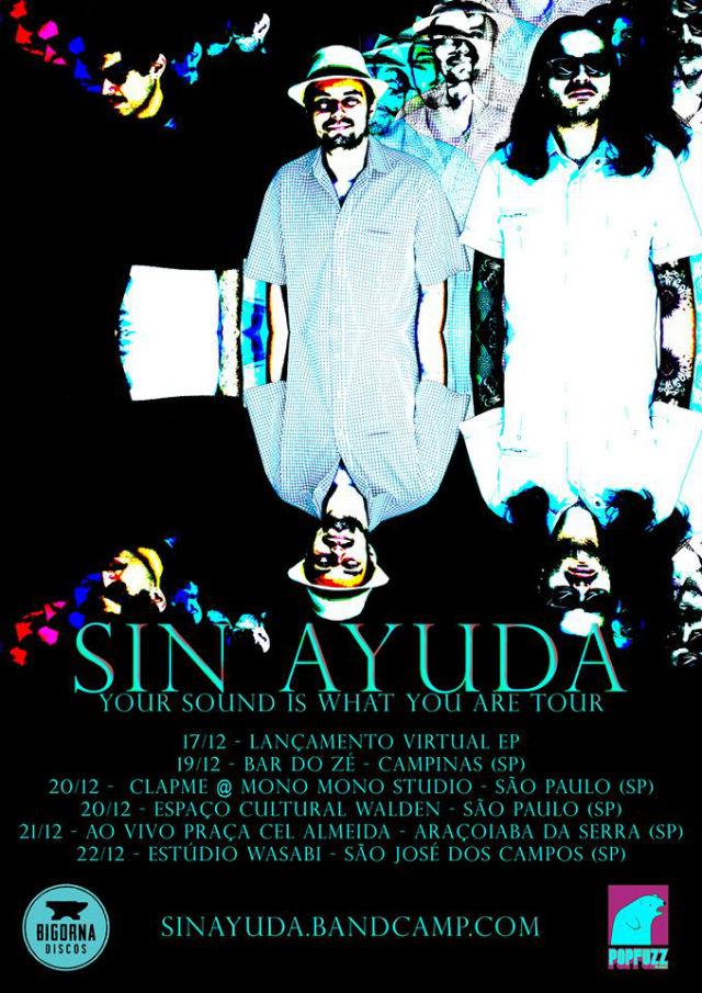 Sin Ayuda anuncia turnê em São Paulo para divulgação do novo EP
