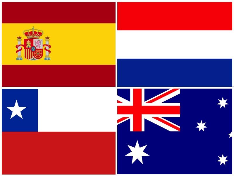 Espanha, Holanda, Chile e Austrália - Grupo B da Copa do Mundo 2014