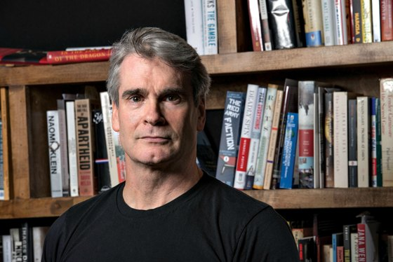 Henry Rollins photographed at home on May 25, 2013 in Los Angeles, California.