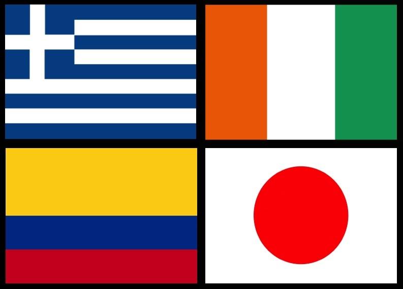 As Bandas da Copa do Mundo - Grupo C
