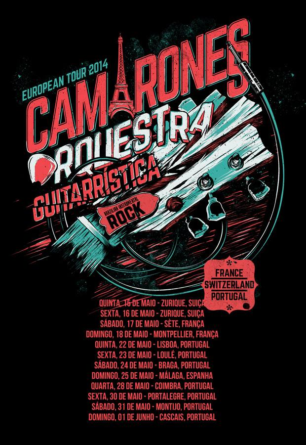 camarones european tour 2014 Diário de Bordo: Camarones Orquestra Guitarrística   Turnê Europeia 2014