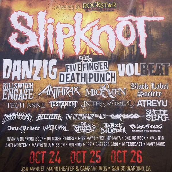 Revelado lineup do Knotfest 2014
