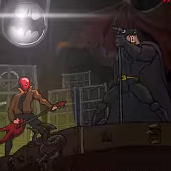 Batman vira estrela de clipe de metal