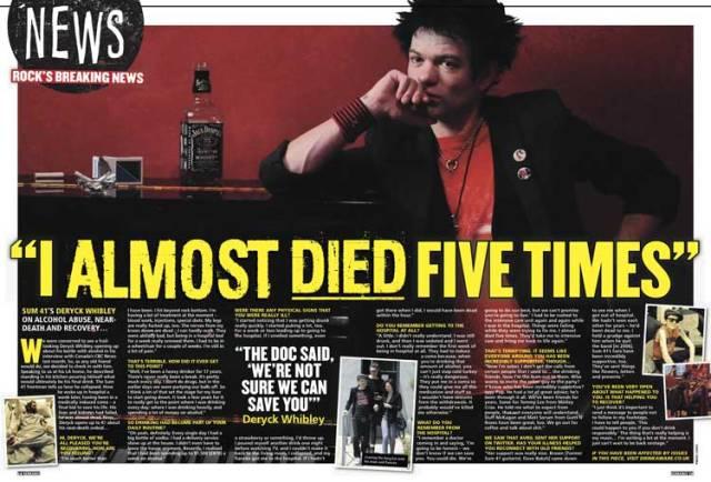 Vocalista do Sum 41 recebe o apoio de rockstars famosos