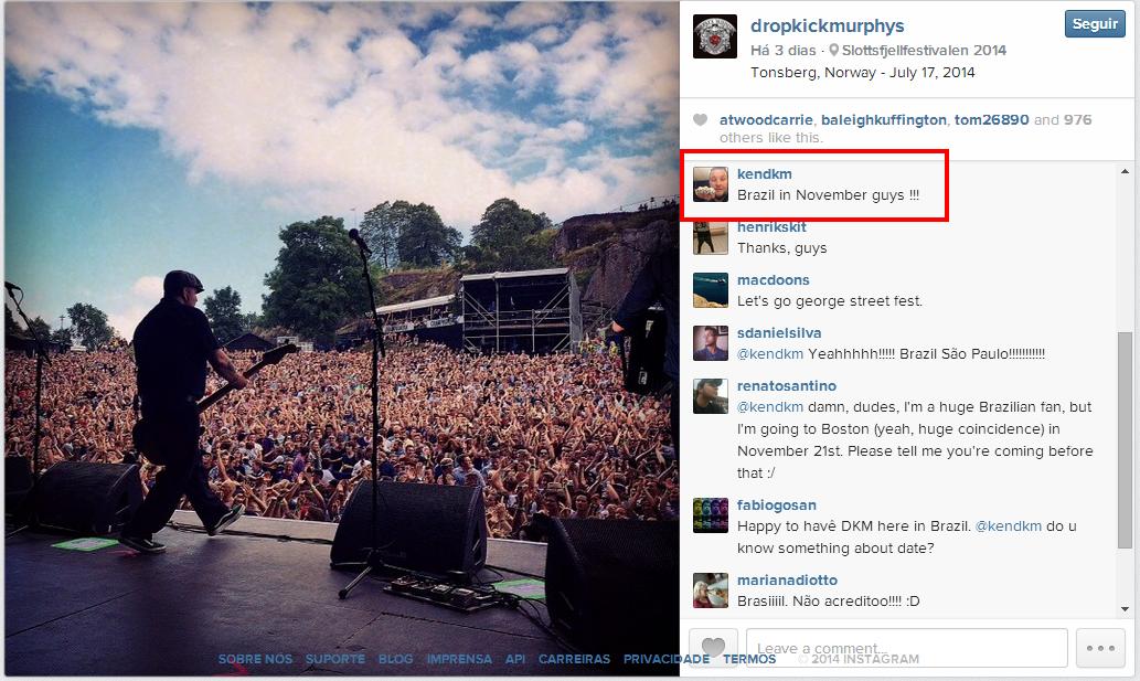 Dropkick Murphys virá ao Brasil ainda em 2014