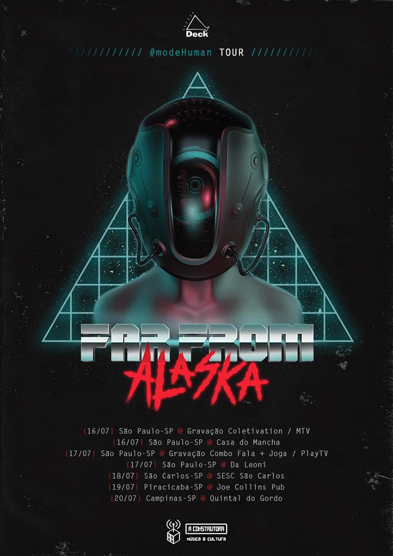 "Far From Alaska leva a turnê de ""modeHuman"" a São Paulo"