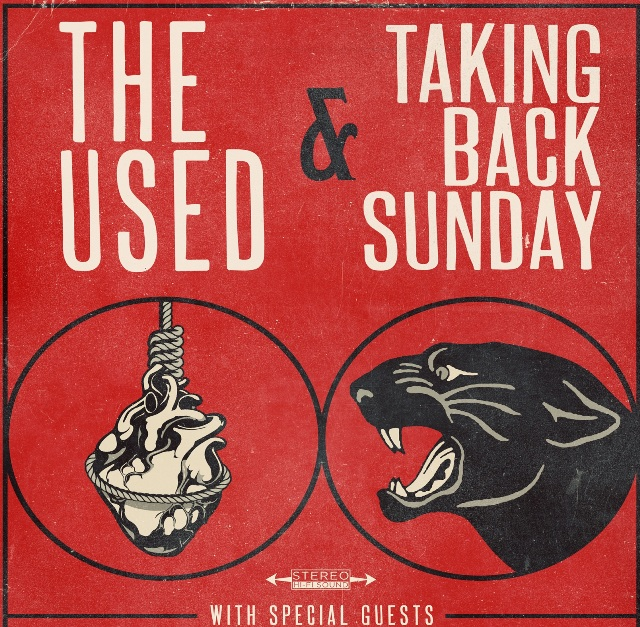 The Used e Taking Back Sunday lançarão split