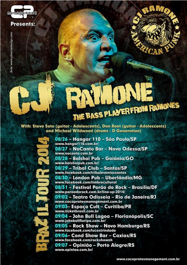 CJ Ramone lança novo single pela Fat Wreck Chords