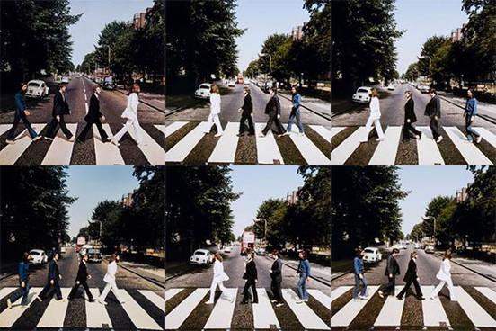 Fotos da sessão dos Beatles em Abbey Road
