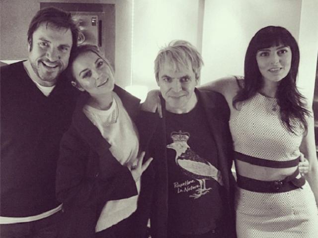Lindsay Lohan e Duran Duran gravam juntos