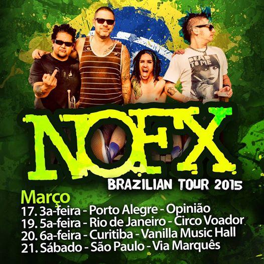 NOFX no Brasil: vendas e informações sobre os shows são liberadas