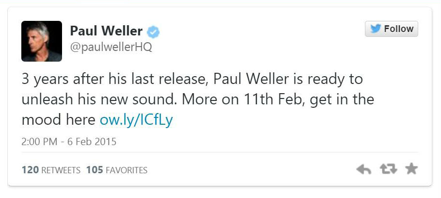 Paul Weller lança teaser de nova música