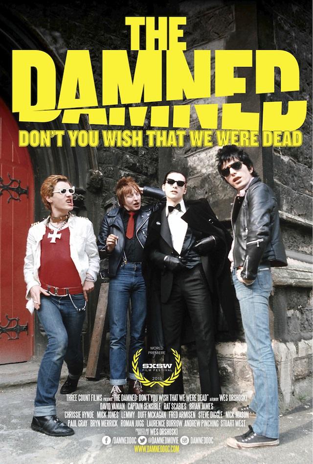Documentário sobre o The Damned terá presenças de Mick Jones, Nick Mason, Lemmy Kilmister dentre outros