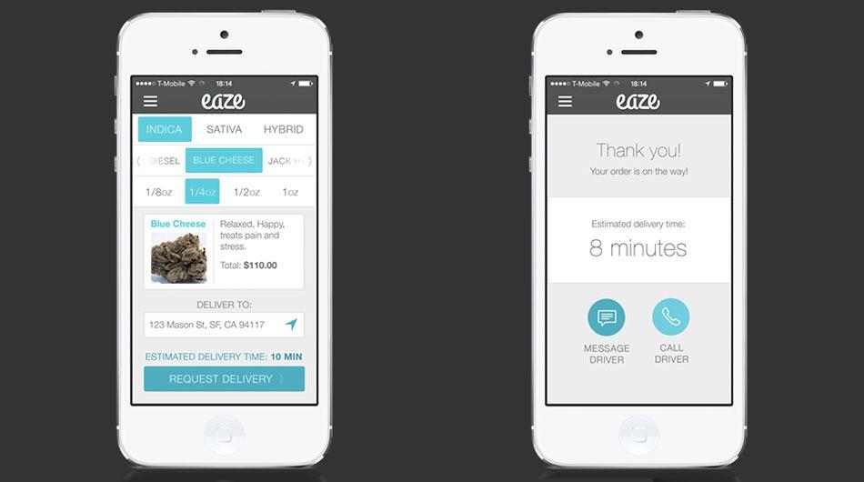 Eaze, app que entrega maconha em casa