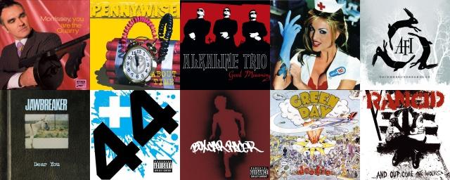 20 discos com a mão de Jerry Finn (Morrissey, Alkaline Trio, Blink-182, AFI, Green Day, Rancid)