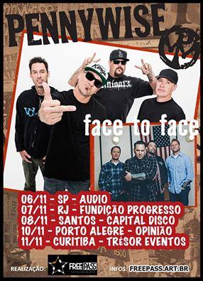 Pennywise e Face to Face no Brasil