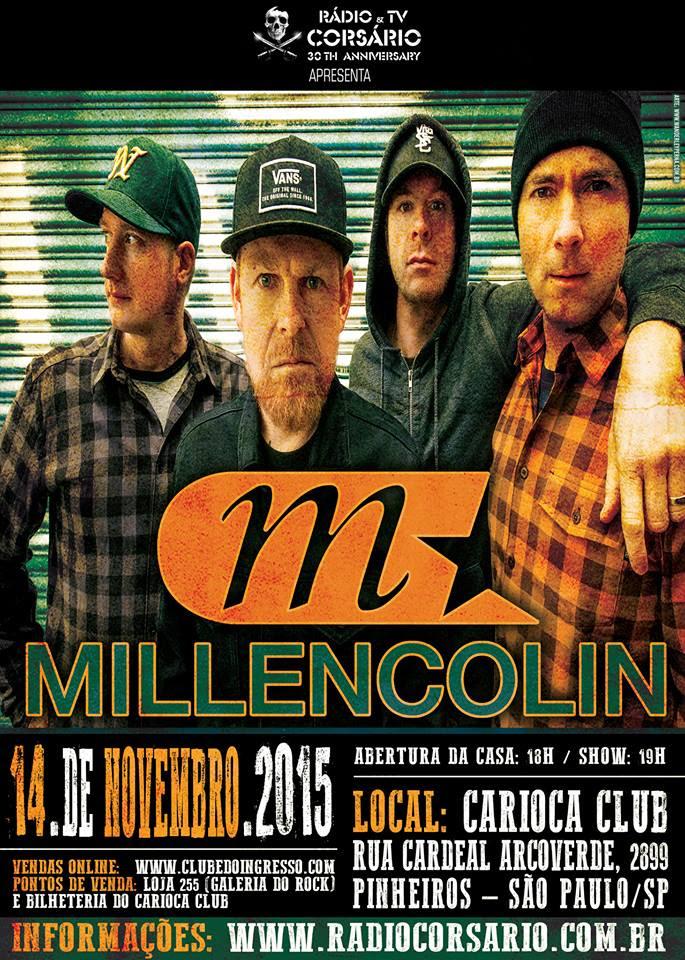 Millencolin confirma quatro shows no Brasil