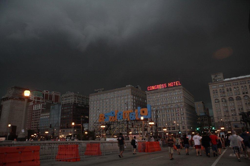 Tempestade no Lollapalooza