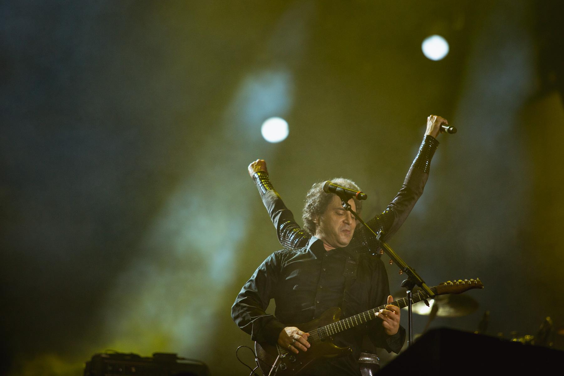 Frejat e Ney Matogrosso na homenagem aos 30 anos de Rock In Rio