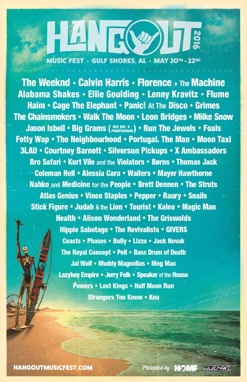 Hangout Music Festival 2016 - Line-up