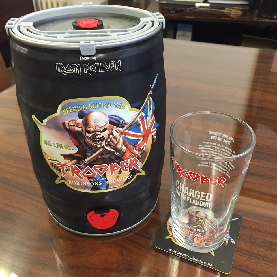 Cerveja do Iron Maiden é lançada em barril de 5 litros