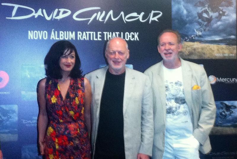 David Gilmour: estivemos na coletiva de imprensa em São Paulo