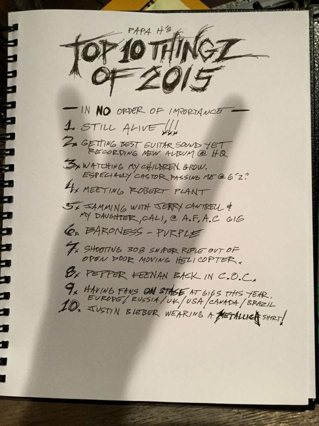 James Hetfield - Top Things 2015