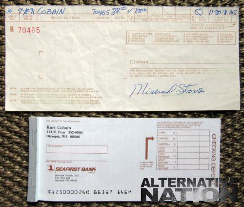 Talão de cheques de Kurt Cobain é vendido por 6 mil reais