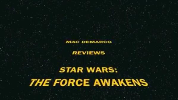 Mac DeMarco faz resenha de Star Wars: O Despertar da Força