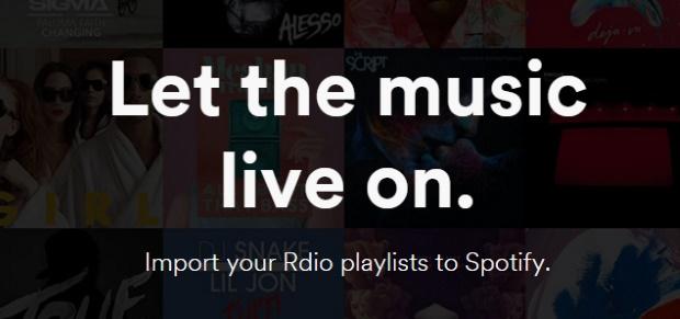 Spotify cria ferramenta de importação para playlists do Rdio