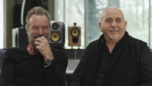 Sting e Peter Gabriel