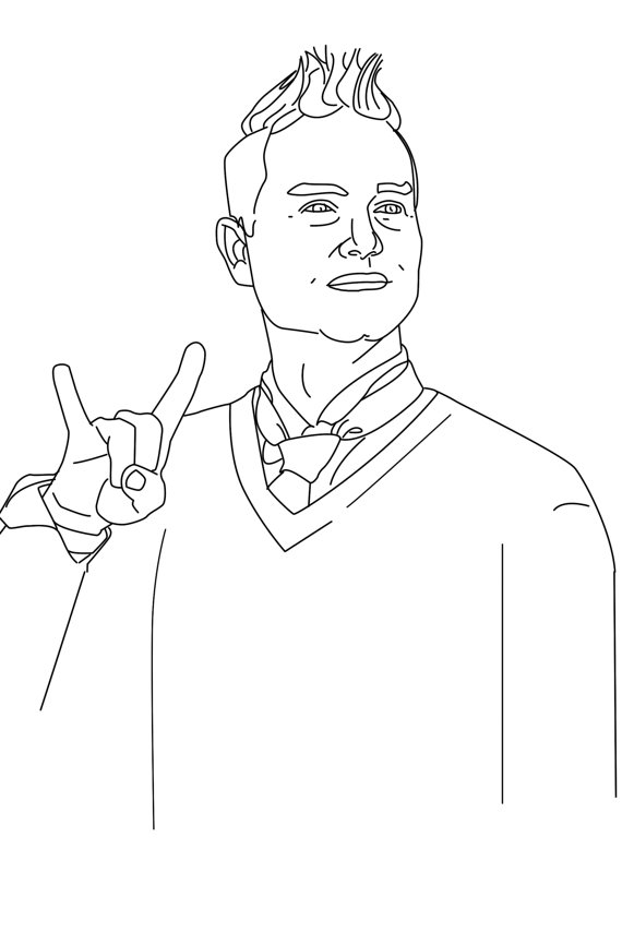 Mark Hoppus, do Blink-182, aparece no livro de colorir do pop-punk