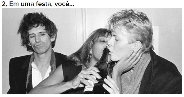 David Bowie em teste do Buzzfeed