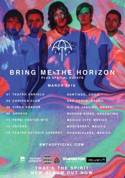 Bring Me The Horizon: datas de shows no Brasil