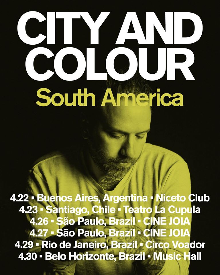City And Colour na América do Sul