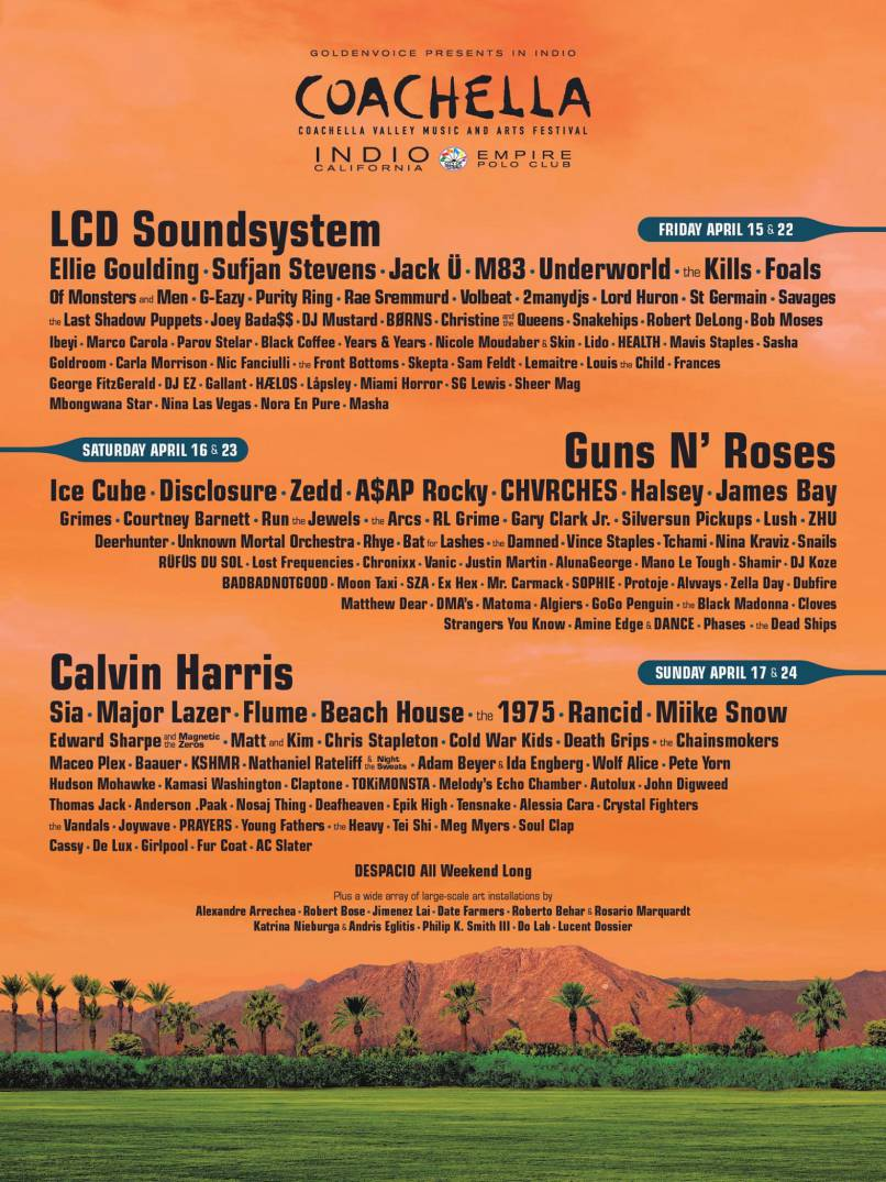 Line-up do festival Coachella 2016 (cartaz)