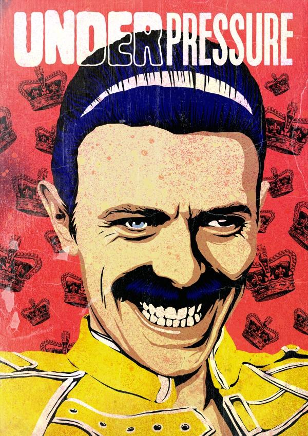 David Bowie como Freddie Mercury