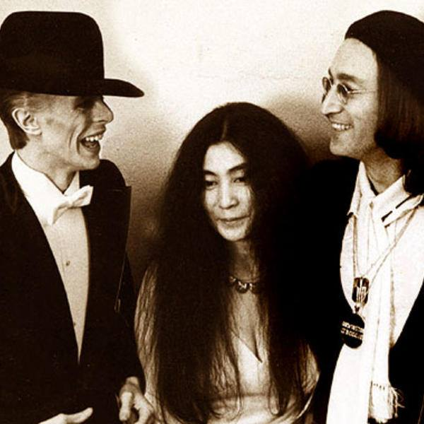David Bowie, Yoko Ono e John Lennon
