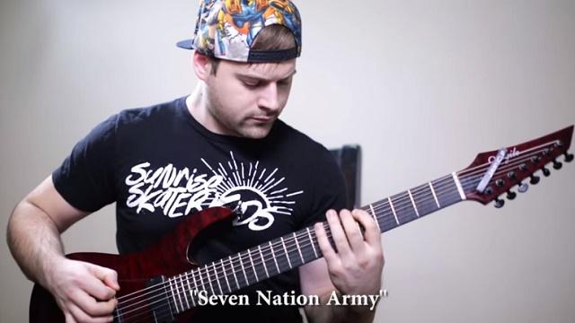 Músico toca riffs clássicos do Rock na afinação drop G - vídeo