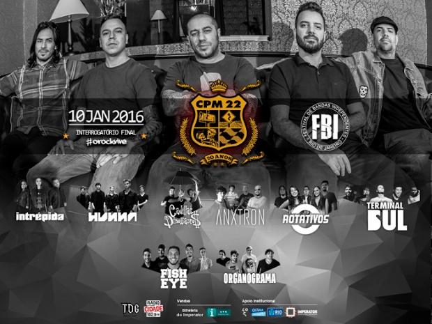 Festival de Bandas Independentes terá CPM 22 no Rio de Janeiro
