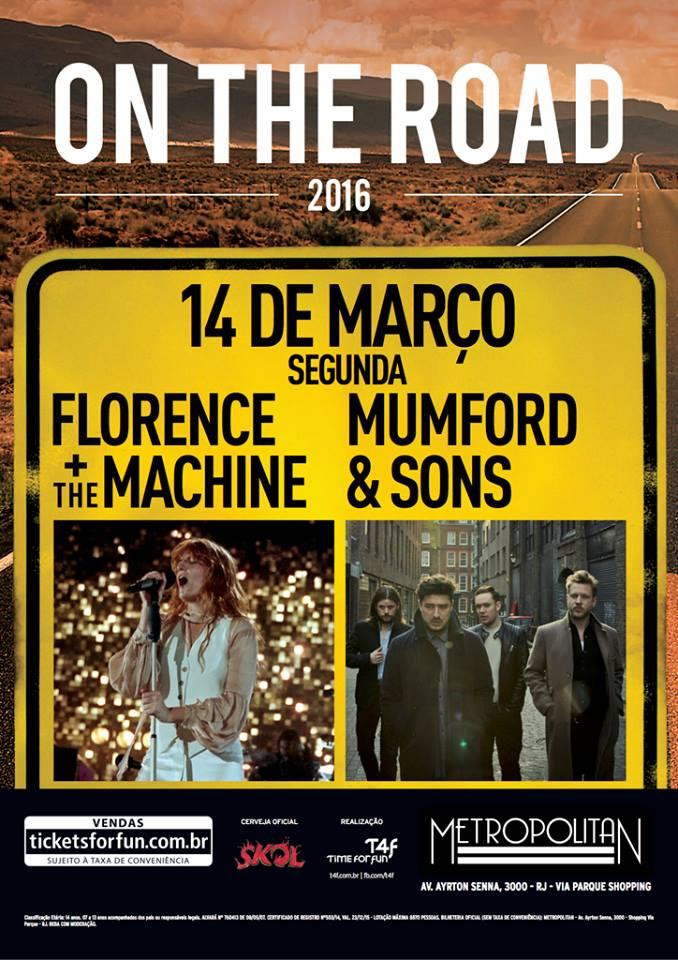 Florence + The Machine e Mumford And Sons no Rio de Janeiro