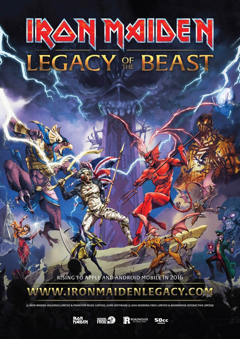 Iron Maiden Legacy Of The Beast: banda anuncia o lançamento de game