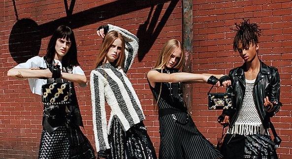 Jaden Smith em campanha feminina da Louis Vuitton