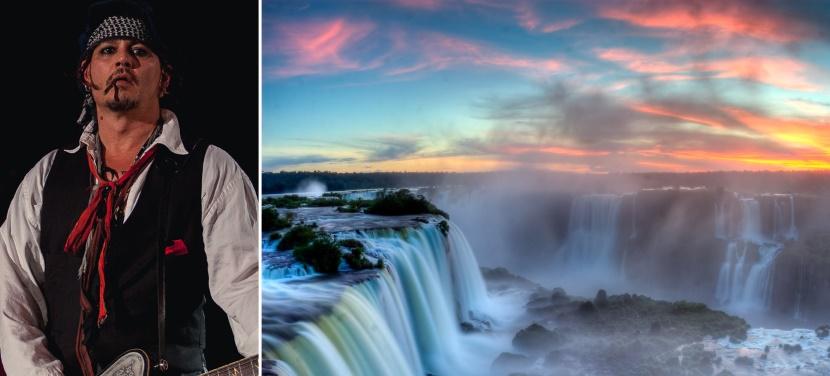 Johnny Depp pode atuar em filme sobre crime na tríplice fronteira em Foz do Iguaçu